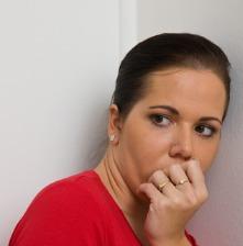 female with severe phobia