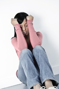 young woman with social anxiety